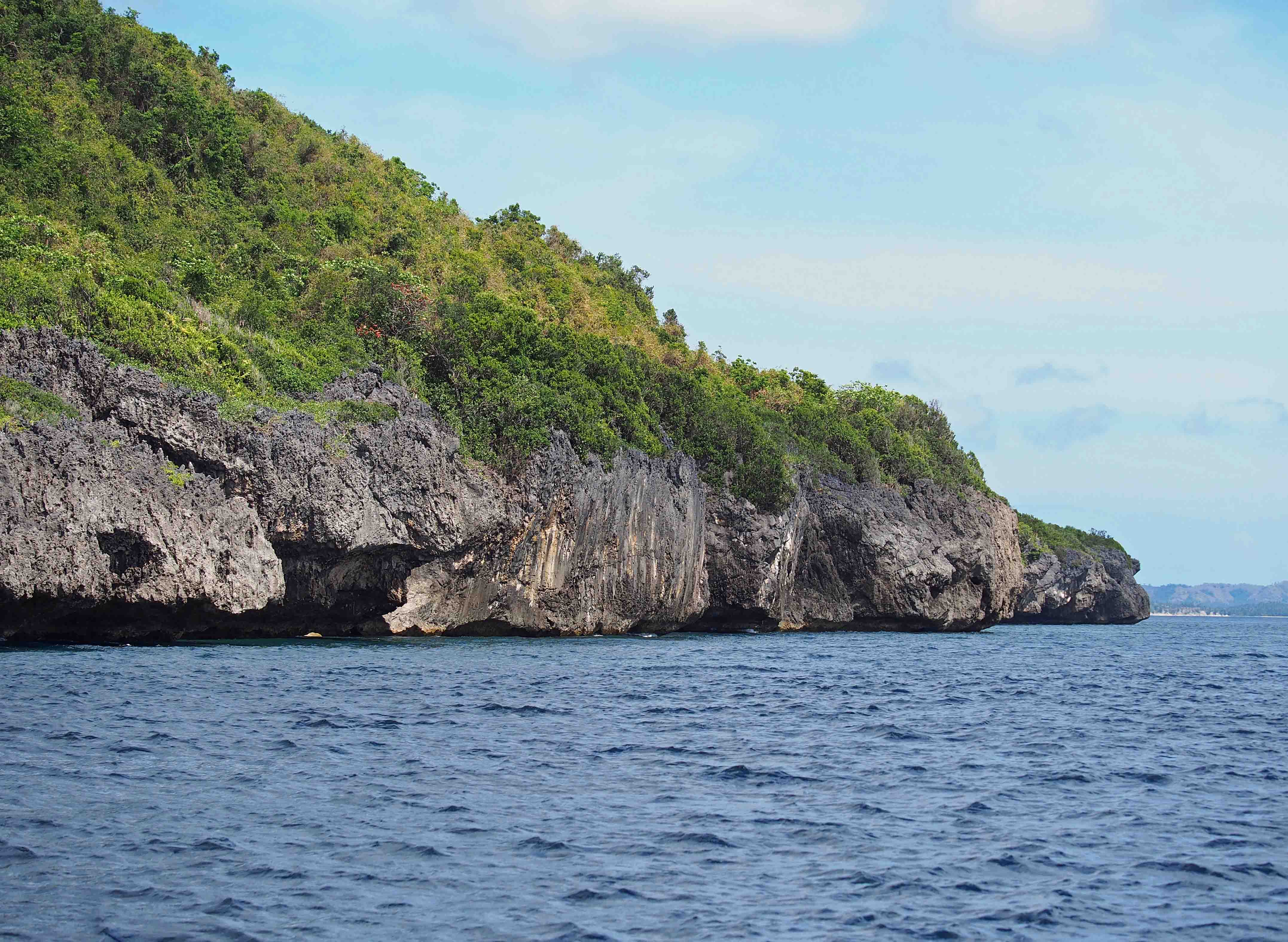 Coastal cliffs on Tablas Island