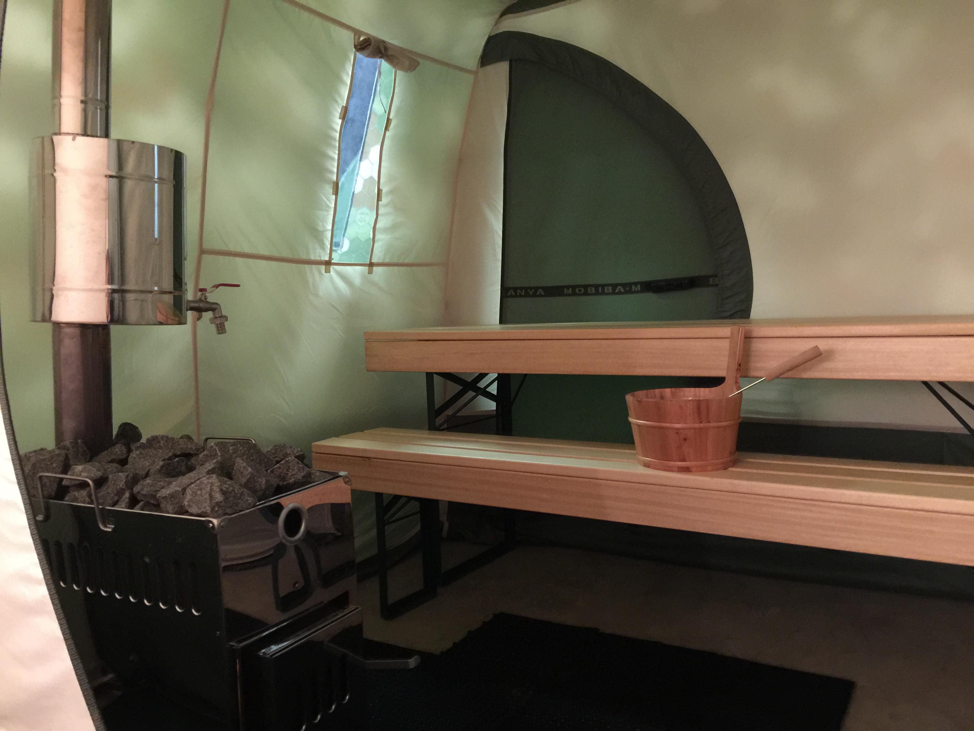 Ison saunateltan löylyhuone