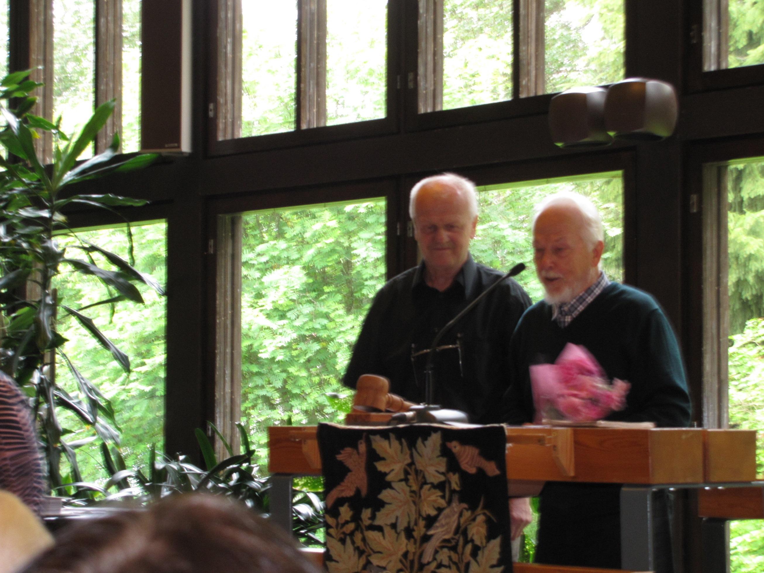 Kuvassa Paavo Sääski (oikealla) ja Vesa Keskitalo (vasemmalla) - Kuvaaja Kari Salohalme