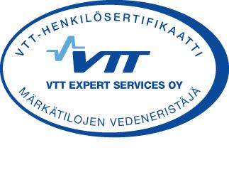 VTT-henkilösertifikaatti, märkätilojen vedeneristäjä.
