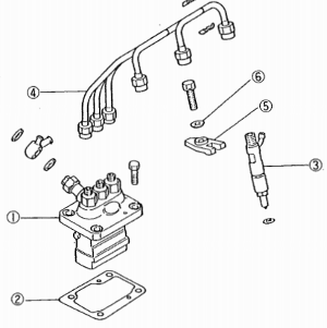 Mitsubishi K-sarjan moottorin ruiskutuspumppu