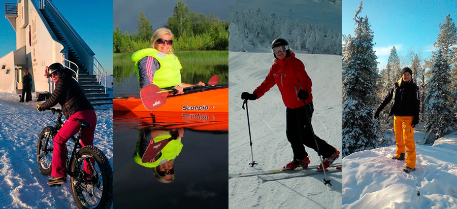 You never know if she comes by fat bike, viking boat, bare foot or even Catepillar...