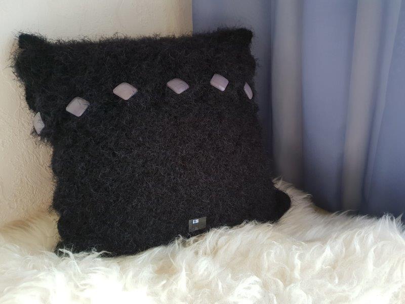 Tyyni-tyynynpäälinen - sisustustyyny - sekkoite langoista