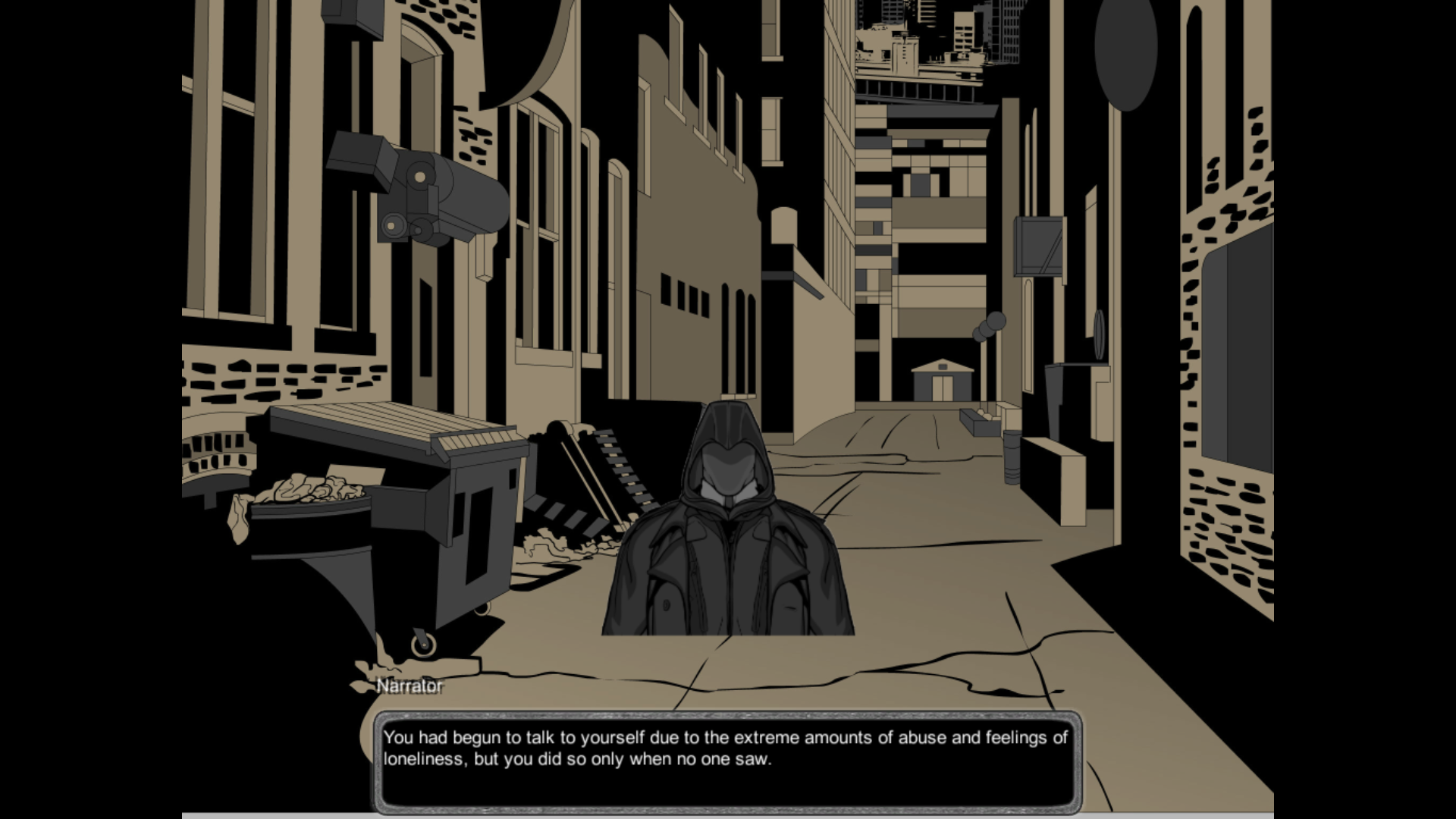 I have Crippling Depression! Tekijä: Joonas Saaristo Genre: Visual Novel