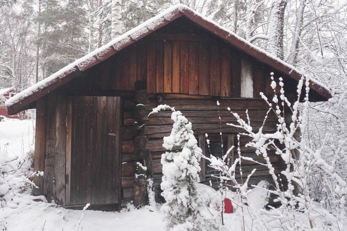 Savusauna talvella