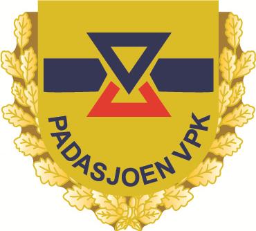 Padasjoen VPK:n juhlapinssin logo